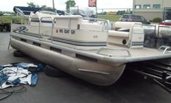 We have a 2004 Misty Harbor pontoon with a 40 4-stroke Mercury runs and looks good. feel free to stop in or call for more information any time between 8