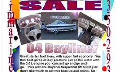 19' Bayliner 195 Bow Rider $7999 3.0L Fuel economy Salon Enclosure CD Player Swing Away tongue Spare tire Rear seats that turn into a sun deck NICE INSIDE AND OUT! DA3586