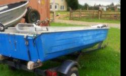 14ft alluminuin boat with good trailer. This boat comes with a troaling motor. it also has 2 seats a fish finder and pole holders well worth the money. No low Ballers this boat is very niceTitle in handhas ez loader trailer title in hand for trailer