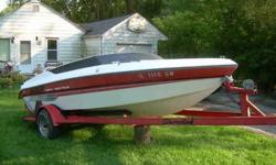 Drive Unit #0B799961 Transom Assembly # 0B852550 Shore Line Trailer has bent tounge,but still trails OK Drive Unit and Tilt work. No Lean on Boat or Trailer. Solid Boat for fixer upper. Will consider trade for car ,please no gas gas hogs. Two 62 Three 21