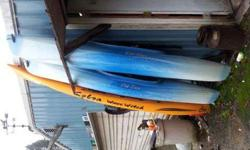 I have two old town otters 9' and one cobra sit-on-top 10' 3 nice paddles, three life jackets , sellin cause i only got to use them three times last summer , luv going out in them just no time anymore . great pkg deal $800.00 obo for all ! or $225.00 for