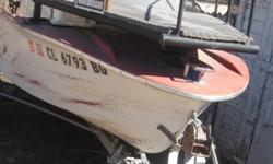 14 foot bow fishing boat. Ready to Go, Great Platform added for Bow Fishing, used with 3 people on board. Easy to operate, Perfect Starter Boat with trailer, motor, As_IS. contact for more pictures. 970 867 5451