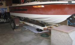 1978 Silverline boat with MerCruiser 140 EngineCarb has been rebuilt, brand new battery, solid floor, starter checks out good. It'll come with the trailer, tarp, trolling motor, and some paddles. Some engine work is still needed. I just don't have the