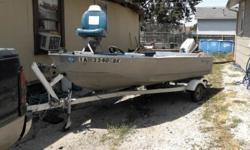 1957 texas maiden boat for sale comes with 4 life jackets trolling motor and 18 horse motor and trailer and paddles if interested call or text 402-714-1626