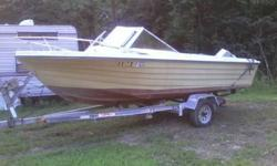 PRICE REDUCED FROM 1500 TO 800. This is a 1978 seventeen feet Wellcraft with two running motors and a galvinized trailer(trailer alone worth this!) Boat could use TLC but motors and trailer in attractive shape!! 1 motor is an evinrude 70hp and other is a