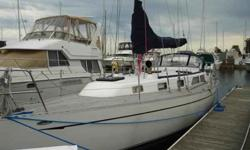 This 38? Pedrick has spent most of her life in brackish water on the Chesapeake Bay and has been in freshwater on Lake Michigan since 2007. She is dry stored and winterized off season and splashed around mid May with new bottom paint. The teak interior