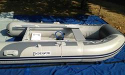 2011 Endeavor Inflatable MX-290/0KIBBrand NewHigh Pressure Air Floor Sport Boat Multiple layers of copolymer fabric with thousands of drop stitches per square inch result in an extremely rigid, lightweight hull-stiffening system that eliminates many of