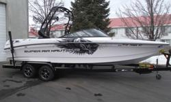 Classy and Clean. This one owner Super Air Nautique 230 Team is ready for spring. It can't wait to get on the water and show you what it is made of. It is nicely loaded for a day/week of fun on the water all the way down to the PCM ZR6 409. With only