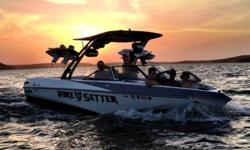 The Malibu Wakesetter 247 LSV is a big, comfortable, stylish boat for the whole family. With seating for 17 and more than 20 cup holders, the biggest boat in the Wakesetter line has plenty of space and plenty of wake performance for an entire day on the