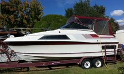This is very popular Carver model. The cabin feels much larger than any other 26? cruisers. Head room is not a problem with full height standing room throughout the main cabin, head, and in the mid cabin. The galley has hot and cold pressure water, an