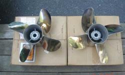 Spinelli Bros. Inc. Props. 2 S/Steel 4 blade 14 1/2 x 28 pitch counter rotating props. Built April of 2001 like new, pre-owned once and re-polished. They have been sitting in the back of my garage ever since. Asking $899.00 or B.O. No e-mails, calls only
