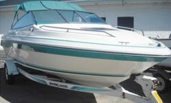 1991 Sea Ray 200 Cuddy with a 4.3L Mercruiser Alpha 1The boat has cup holders throughout the boat, back-to-back chairs which transform into lounge chairs. The rear seats can be adjusted to create a Sun pad. There are dual Swim platforms (one on either