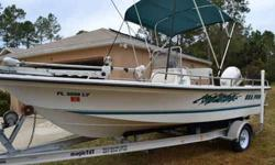 """2001 SEA PRO 18.5' CENTER CONSOLE WITH LOW TIME AND IN EXCELLENT SHAPE. 115 HORESPOWER JOHNSON MOTOR. FIBERGLASS HULL/FULL INNER LINER MODIFIED VEE.CENTER LINE LENGTH 18'-6"""", O/B SHAFT LENGTH 25"""" BEAM 8'0"""", APPROX. WT. 1500LBS. DEADRISE @ TRANSOM"""