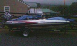 2000 Triton TR186 Maroon and white just replaced the steering cables, New trolling engine motorguide Gator breakaway 75 pd. thrust. The boat has a 150 johnson and sits on a single axle trailor. everything works on the boat and is water ready. on the front