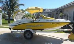 This is a FUN, FAST & RELIABLE boat, like a sports car on water! Just picked up this week from Pensacola Motor Sports from having a brand new motor installed. Everything has been replaced & runs like new! The boat is in perfect condition other than some