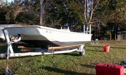 """2000 Carolina Skiff 24""""2002 Yamaha 85hp (2 stroke) Has Teleflex steering Boat and motor in very good condition, trailer in fair conditionTrailer has 2 new tires but no lights. (I have new package of lights and will temporarily hook up for"""