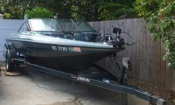 1993 Javelin Bass Fishing Boat with Johnson 150 Motor, in great condition. It?s fully loaded, with an installed battery charge maintainer to ensure ready-to-go capability. The Javelin 389 comes with a Lowrance X96TX Fish finding and depth sounding sonar.