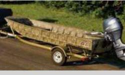 2006 G3 Mossy Oak Camo 1652DK boat with 40HP 4 stroke motor and matching olive color G3 trailer. In the water for only a few hours. Could be used for fishing or would make a great duck boat, too. Purchased in early 2008 for cabin but ended up using
