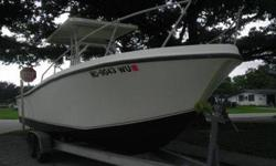 !989 MAKO 261 **HULL _ TRAILER ONLY**. hull is in terrific shape. Solid floor, transome is solid as a rock (NO hallow spots, recently painted middle console and ttop, bottom paint was recently done, comes with a torino trailer that is in excellent