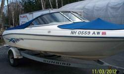 1996 SeaRay Sea Ray 175 Bowrider with a 1990 Sunbird Bunk Trailer. Comes with a mercruiser 3.0 Alpha 1 135 horsepower Bimi Top Full Canvas in floor storage. This boat was dry docked under cover. We had to find a trailer for it. It is now sitting on a