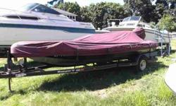 $8,495, 1995 WOOD MANUFACTURING COMPANY SINGLE-AXLE PAINTED BUNK TRAILER W/FAIRLY NEW BRAKES AND TIRES, TRAILER COVER, EVINRUDE OUTBOARD 150HP ENGINE, RATED FOR six PERSONS, SEA STAR HYDRAULIC STEERING, MOTOR GUIDE 24 V FW-FB, 71 lb THRUST TROLLING ENGINE