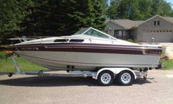 Very nice shape 1985 Celebrity 225, 23ft cuddy cabin. 260 hp Merc. 350 cubic inch Chevy. Stainless prop. very nice boat we just don't use it much anymore. Comes with top. Teak Wood Interior Trim, CD player, in floor ice chest, pota-potty, table and post,