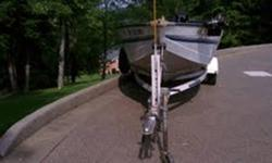Perfect condition 1994 Sea Nymph FM-164 16' aluminum fishing boat with trailer. This one owner, garage-kept boat comes with a cover and two brand new Nissan outboard motors, one 50hp and one 9.8 hp. Also has a trolling motor. Absolutely no problems with