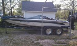 Boat is located in Henry County, Pleasureville to be exact. If you want an up close look, you'll have to schedule a visit. About 45 minutes from Metro Louisville at I-64.Ranger 1995 Comanche 482 VS upgraded in 2000 to an Evinrude 175 HP motor.Blue-teal