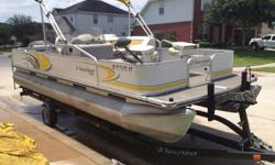 GOOD CONDITION! 21 foot Suncruiser - purchased brand new from boat dealer in Spring! Purchased new in 2008. 50 HP Motor , Trailer, Wireless Trolling Motor, Fish Finder with GPS, Bimini Top, Live Well, Builtin Tackle and Rod Storage, Changing Station, 4