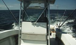 4 wheel galvanized tailer, with winch, and brakes, the boat comes with tuna chair, anchor, life jackets, ship to shore radio, garmen GPS, Loran fish finder, and out riggers.