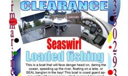 1999 Seaswirl 210 Cuddy DA3586Huge water tank addedfish station Now here is a fiberglass boat for the manly, man! Yes, this boat is set up sooo very well, that will accommodate nearly every need! This is a boat that will face danger head on, daring the