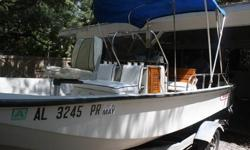 1985 Whaler, with1992 88 HP Evinrude w/ss prop. Bimmi top, fish finder