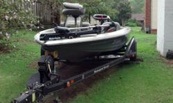 1994 Ranger 481VS bass boat, 150 hp. Johnson Fastrike, runs great. Newer dual axle trailer and Motor Guide trolling motor. Selling due to health reasons. Asking $8,600. 870-972-8247 or 870-930-7080.