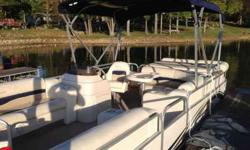 2005 Triton pontoon 60 horsepower mercury Nice boat, seats have a little mildewbut in terrific shape no tears, No trailer but can deliver close.870-219-0323Listing originally posted at http