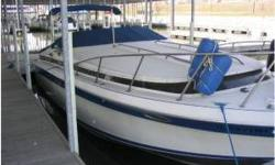 31 ft Wellcraft monaco. Twin 260 mercruisers, w/ about 250 hrs each. Boat is in overall good condition. Will need manifolds and risers on both engines, and canvas repair. Electric head, shower, ac/dc fridge. stove. am/fm cassette, shore power, aft cabin,