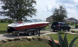 1990 Arriva 2450 same manufacturer as Bayliner 24.6FT bowrider 454 (7.4L) V8 Mercruiser 330HP Bravo I Stainless steel prop, very good condition 55-60MPH Thru hull exhaust Seats 9-10 adults Built in swim platform with ladder Pump sink with 5 gallon fresh
