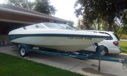 1994 Genesis open bow, holds 8 people-1200lbs, I/O, 5.0 liter MerCruiser. New engine 6 yrs ago has only 50 hrs on it. 148 hours on boat. Always been professionally maintained. Comes with Custom Trailer with surge breaks. The pics we have are from last