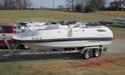 I HAVE A CHAPARRAL SUNESTA 220 DECK BOAT FOR SALE. NO TRAILER.IT HAS A NEW MERCRUISER V-6 MOTOR INSTALLED LAST YEAR.ALL THE MAINTENANCE HAS BEEN PREFORMED ON THE POWER TRAIN.THIS DECK BOAT HAS A PORTIA POTTY ENCLOSURE UNDER THE HELM. VERY ROOMY.OPTIONS