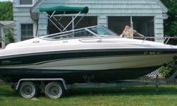 1996 21' Chaparral SST 2135 Cuddy Cabin extended V-Plane Hull. 2nd owners, low (only 425) hours. I/O 5.7 Mercruiser V-8 remanufactured engine professionally installed in '09, only run one season, very few hours on it maybe 40. Dual deep cycle marine