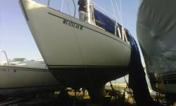 Classic cruising sailboat. Great project boat.
