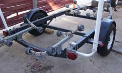 """I have a 17' Shoreline trailer for sale. Tires on trailer have brand new rubber, also has 2 spares with new rubber. Trailer has little to no rust and is in good shape. All lamps are present and functional. 2"""" ball for hitch. (920)287-7847Listing"""