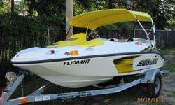........2007 Sea Doo Speedster 150 with only 30 hours on it. Comes as pictured on a single Sea Doo brand trailer. Boat was just serviced by local dealer and needs nothing! Trailer was stored outside and has some surface rust but is structurally sound and