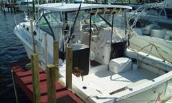 IN WATER READY TO GO. RECENT SURVEY ,VALUED $100K. ALL MAINTENANCE DONE BY DEALER AND HAVE RECORDS.33 feet x 12.5 ft.. beamPropulsion Type:Twin Inboard 400 hoursHull Material:fiberglassFuel Type:DieselHorsepower:740FLOWSCAN fuel flow monitoring systemMORE