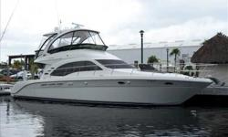 2010 Sea Ray 52 SEDAN BRIDGE Don't miss this exceptionally well equipped, exceptionally low hour late model offering.Graceful styling combined with luxury accommodations and yacht grade construction.Three stateroom layout with washer/dryer, dark cherry
