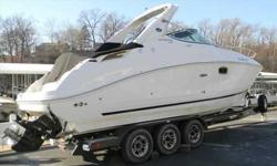 2009 Sea Ray 270 SUNDANCER 2009 Sea Ray 270 Sundancer with Heritage Hydraulic Triple Axle Trailer. Powered by a Mercruiser 496 MAG Bravo 3 DTS with 375hp and 90 hours of running time with A/C & heat and 5.0 kW Kohler Generator. This boat has many features