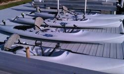 I'm selling two of my four Hobie Kayaks. Purchased new in 1999. All features work and Kayaks are fully functional and in good condition. The Hydro drive system, rudder and steering all work great. Units would need to be picked up at my house and you would