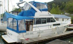 Great Bayliner 3888 Classic. One of our personal favorites. Super nice condition throughout and just loaded with all the options you'd expect. Twin 175 Hino Diesel's make for economical trouble free west coast cruising. Take this boat anywhere. Call