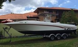 ,,,...,.very good 31 foot Fountain boat with 2 300 hp Mercury motors, it will deliver speeds up to almost 70 MPH. It handlesvery well is high seas and rough weather, has very nice sound system, will have a good time fishing , diving or just going out for