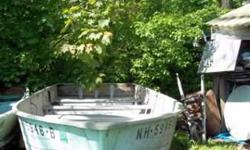 16 ft.aluminum sea nymph 64 beam center console 25 hp. evinrude call leave message or email