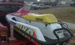 1993 Yamaha VXR wave runner engine upgraded from 650cc to 700cc in 1999. Agile swift and reliable, the perfect family boat. Shallow draft with power to pull any toys. Easy for younger drivers to handle. Fun fun fun. Budget minded boating $999.00 (1/10th